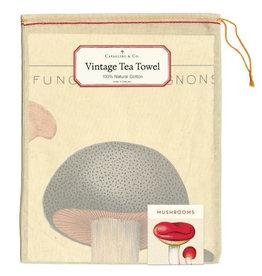 Cavallini Papers & Co. Mushrooms Tea Towel
