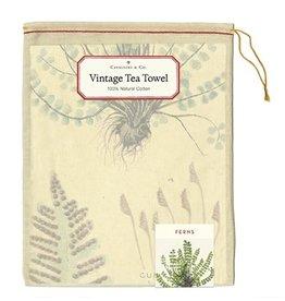 Cavallini Papers & Co. Ferns Tea Towel