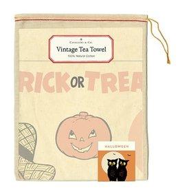 Cavallini Papers & Co. Halloween Tea Towel