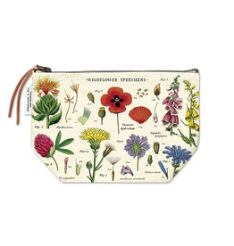 Cavallini Papers & Co. Wildflowers Vintage Pouch