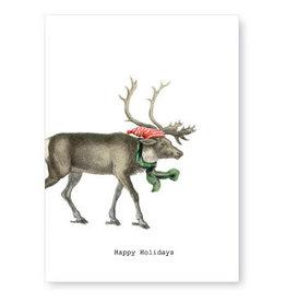 Tokyomilk Happy Holidays Reindeer Christmas Notecard