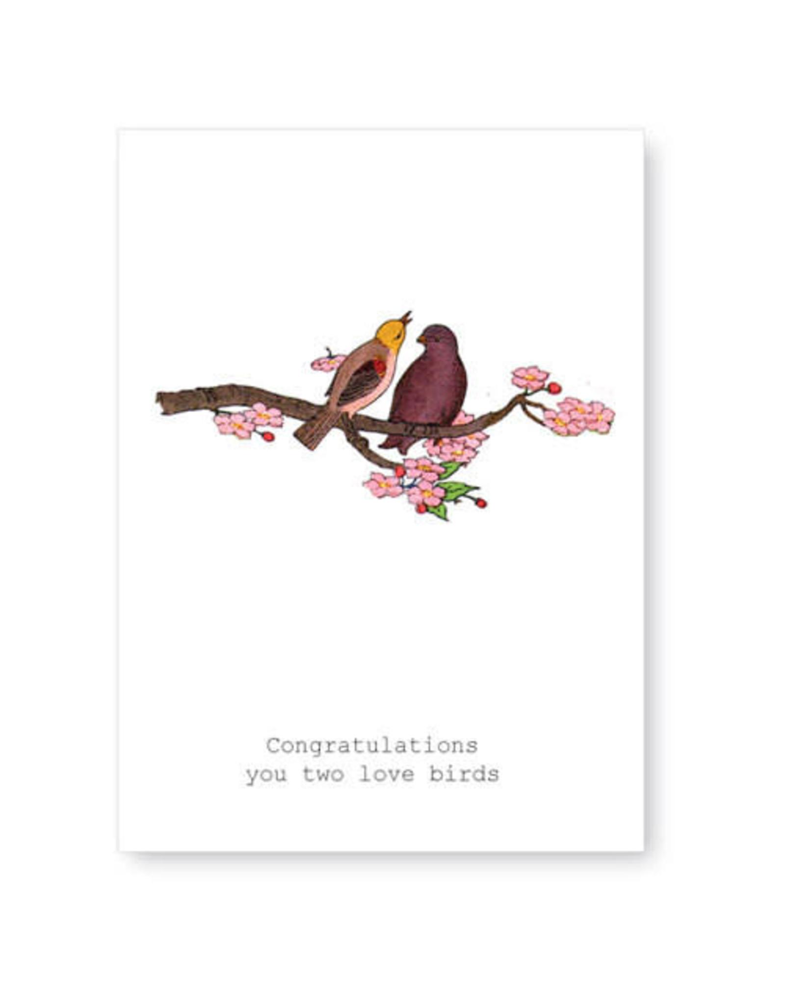 Tokyomilk Congratulations Love Birds Greeting Card