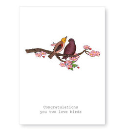 Tokyomilk Congratulations Love Birds Greeting Card