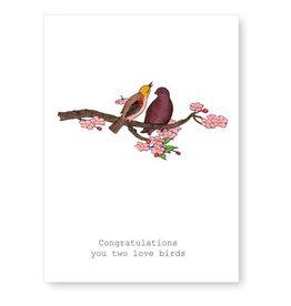 Tokyomilk Congratulations Love Birds Wedding Notecard