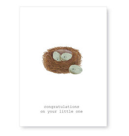 Tokyomilk Congratulations on Your Little One Baby Notecard