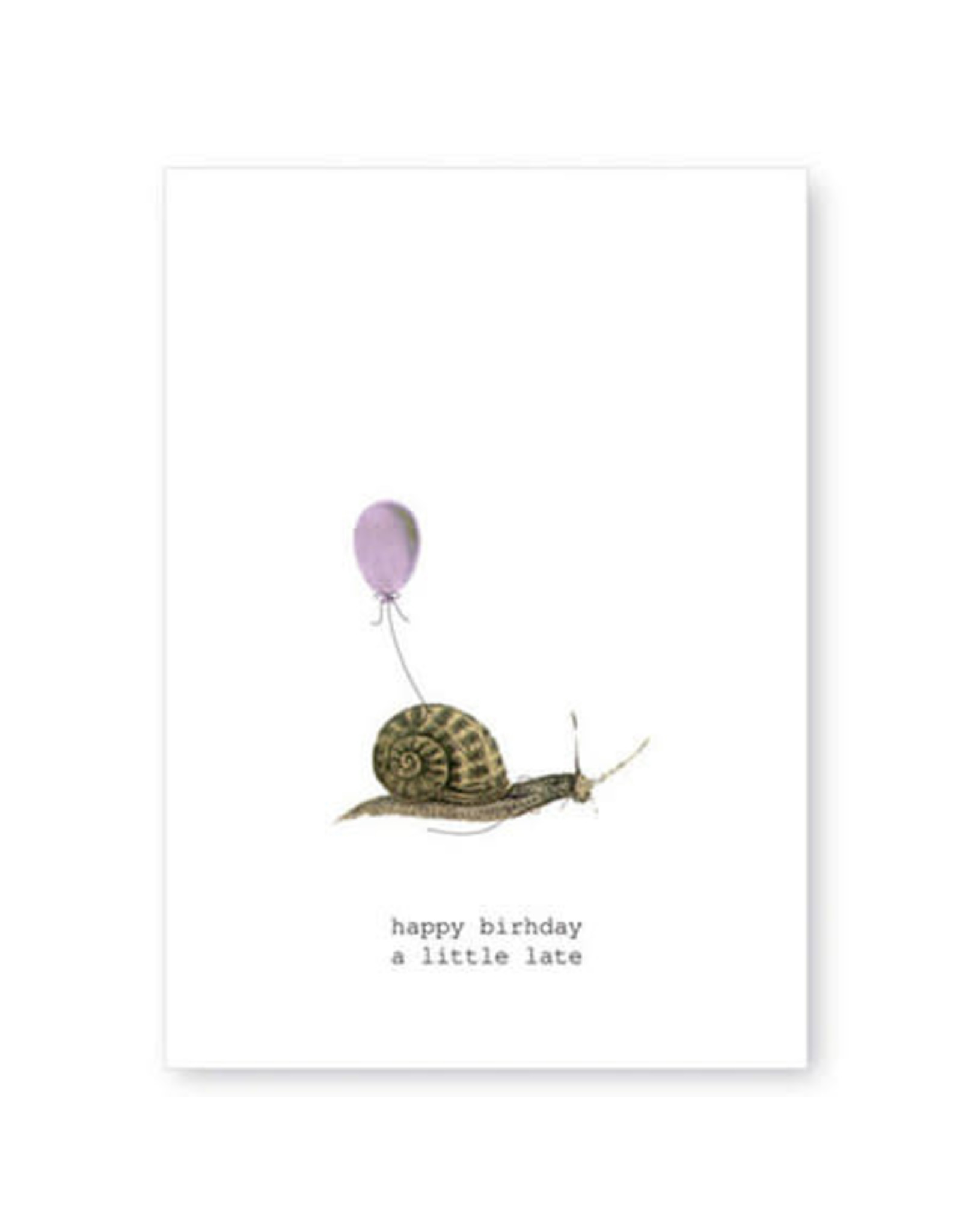 Tokyomilk Happy Birthday a Little Late Greeting Card