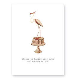 Tokyomilk Cheers to Having Your Cake Greeting Card