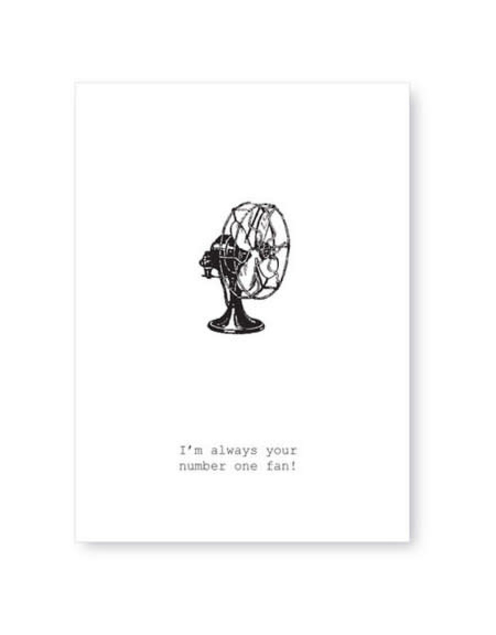 Tokyomilk I'm Always Your Number One Fan Greeting Card