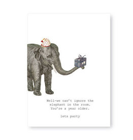 Tokyomilk We Can't Ignore the Elephant Greeting Card