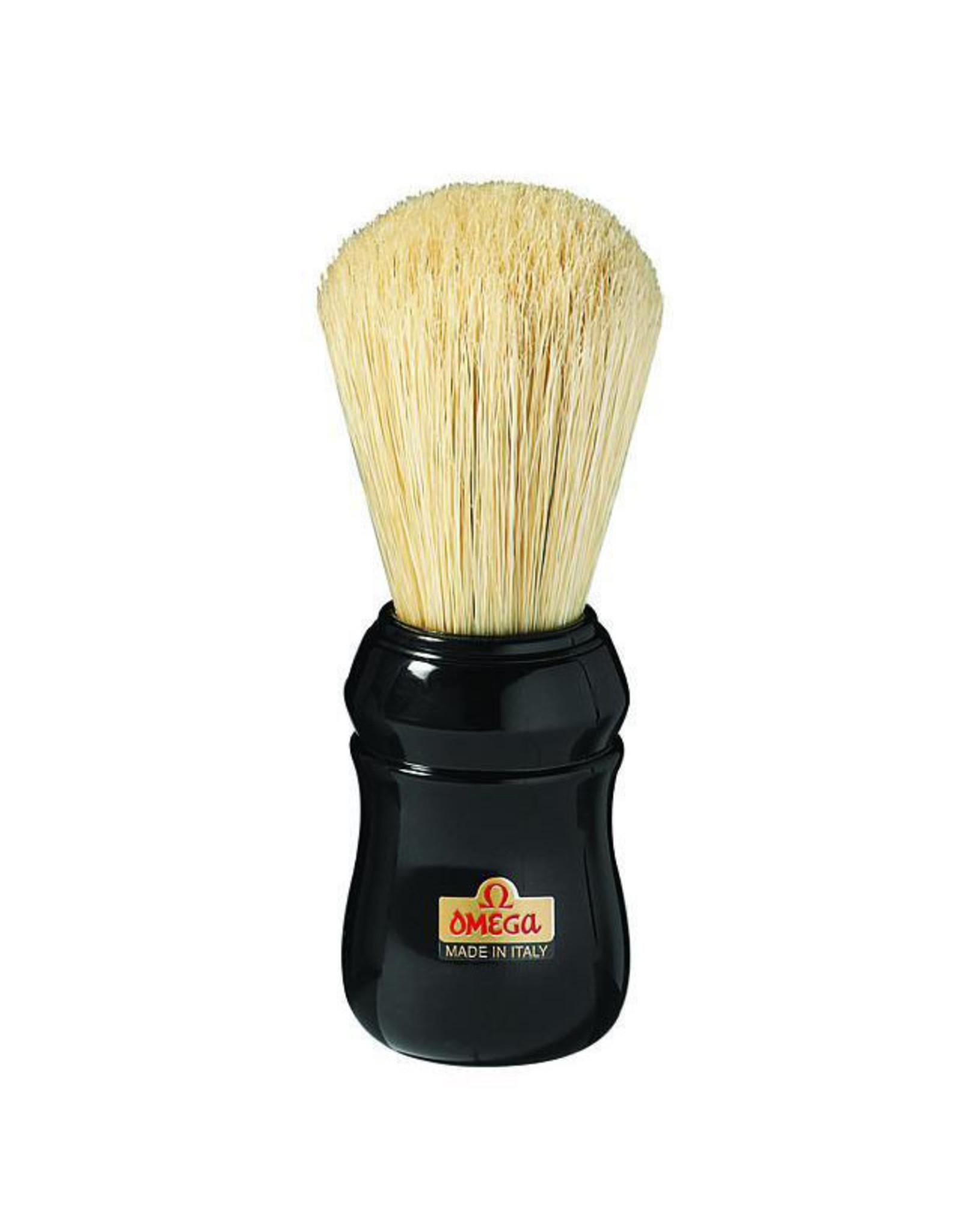 Omega Boar Bristle Shaving Brush, ABS Handle, Black