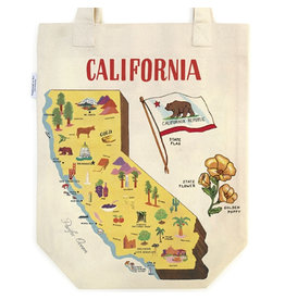 Cavallini Papers & Co. Map of California Tote Bag
