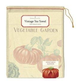 Cavallini Papers & Co. Vegetable Garden Tea Towel