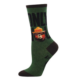 Socksmith Design Only You Green Heather 9-11 Women's Crew Socks WNC2222-GHT