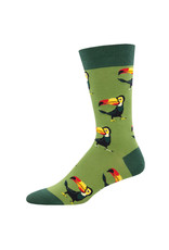 Socksmith Design Tropical Toucan Green 10-13 Men's Crew Socks MNC2255-GEE