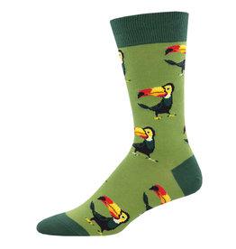 Socksmith Design Tropical Toucan Green 10-13 Men's Crew Socks MNC2255-GEE