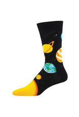 Socksmith Design Plutonic Relationship Black 10-13 Men's Crew Socks MNC2244-BLK