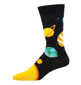 Socksmith Design Plutonic Relationship Black 10-13 Men's Crew Socks MNC2244-BLK