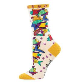 Socksmith Design Pescadero Ivory Heather Women's Crew Socks