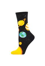 Socksmith Design Plutonic Relationship Black 9-11 Women's Crew Socks