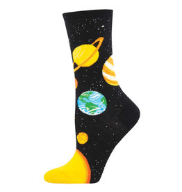 Socksmith Design Plutonic Relationship Black 9-11 Women's Crew Socks
