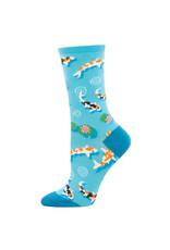 Socksmith Design Every Now and Zen Blue 9-11 Women's Crew Socks