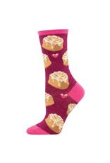 Socksmith Design Lovely Buns Berry Heather 9-11 Women's Crew Socks