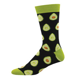 Socksmith Design Any Way You Slice It Black Men's Bamboo Crew Socks