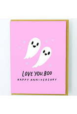 Hello!Lucky Love You Boo Anniversary A2 Notecard