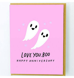 Hello!Lucky Love You Boo Anniversary A2 Notecard
