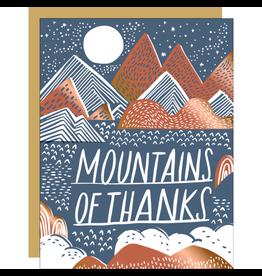 Hello!Lucky Mountains of Thanks A2 Notecard