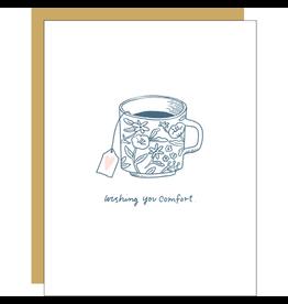Hello!Lucky Comfort Tea Consolation A2 Notecard