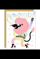 Hello!Lucky Pride Lion Congrats A2 Notecard