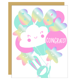 Hello!Lucky Pumped Baby A2 Notecard