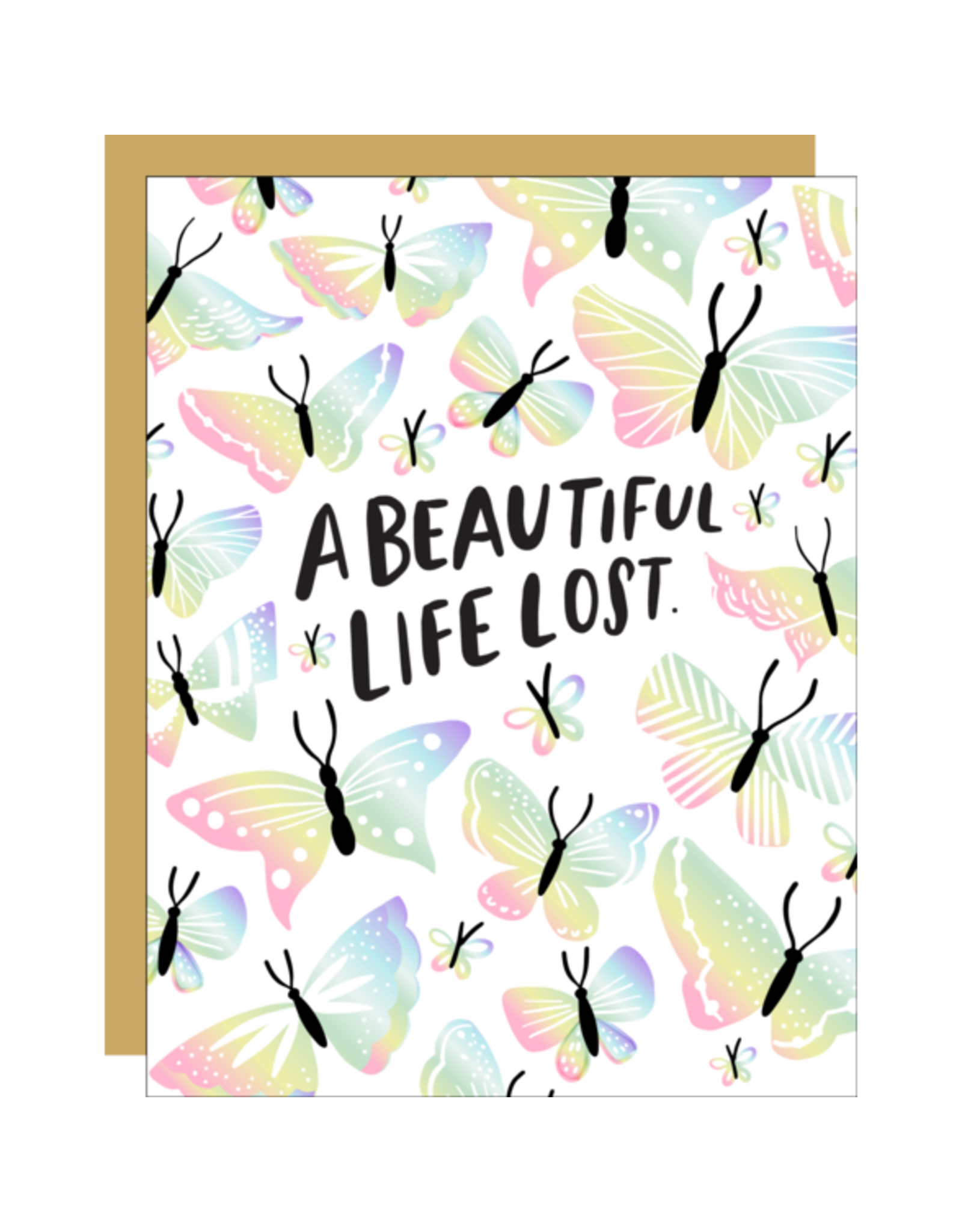 Hello!Lucky A Beautiful Life Lost Consolation A2 Notecard