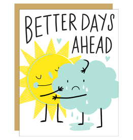 Hello!Lucky Better Days Ahead Consolation A2 Notecard