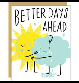 Hello!Lucky Better Days Ahead Consolation A2 Notecard