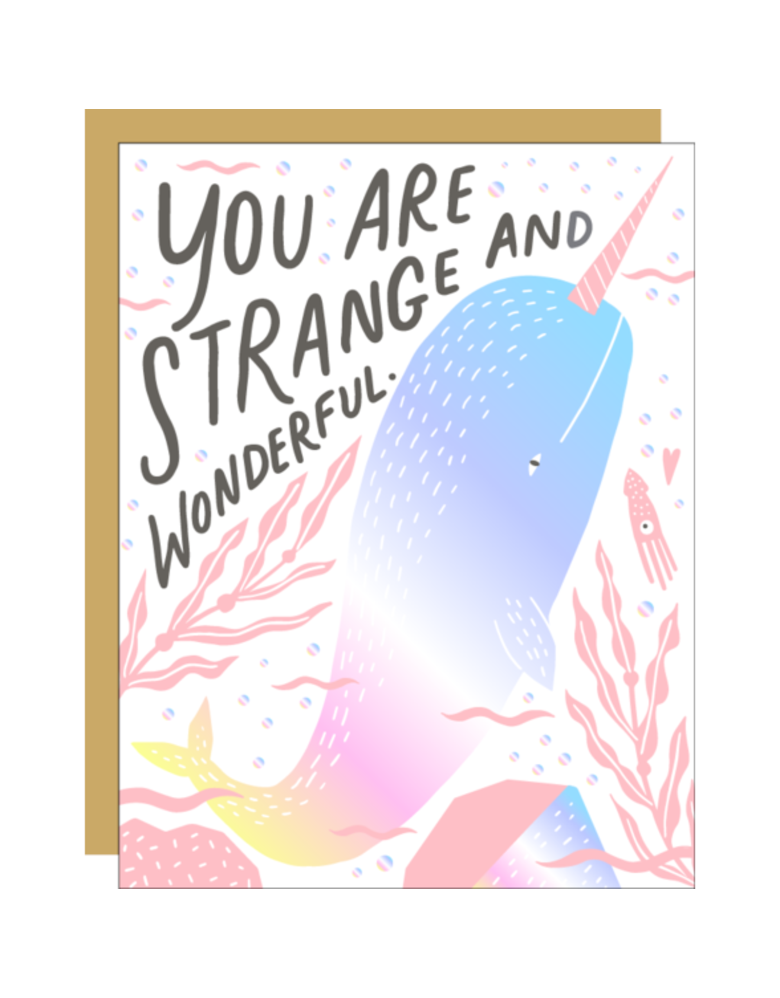 Hello!Lucky Wonderful Narwhal Love A2 Notecard