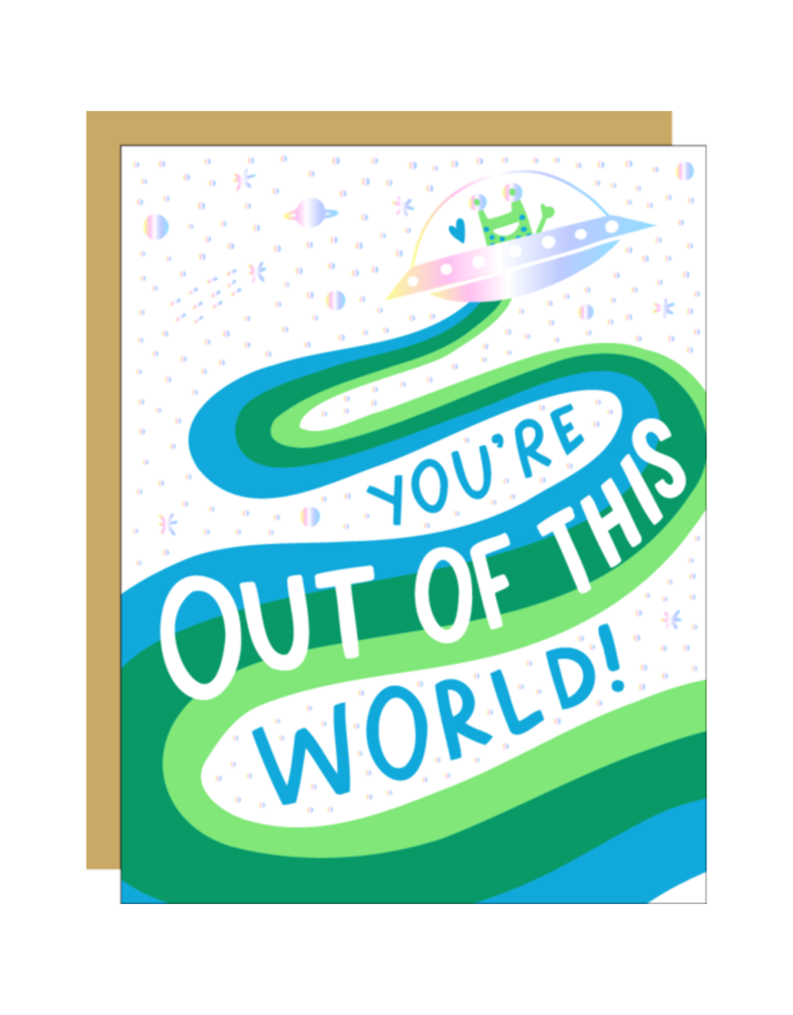 Hello!Lucky You're Out of This World A2 Notecard