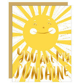 Hello!Lucky You Are My Sunshine Love A2 Notecard