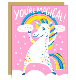 Hello!Lucky Magical Unicorn Congrats A2 Notecard