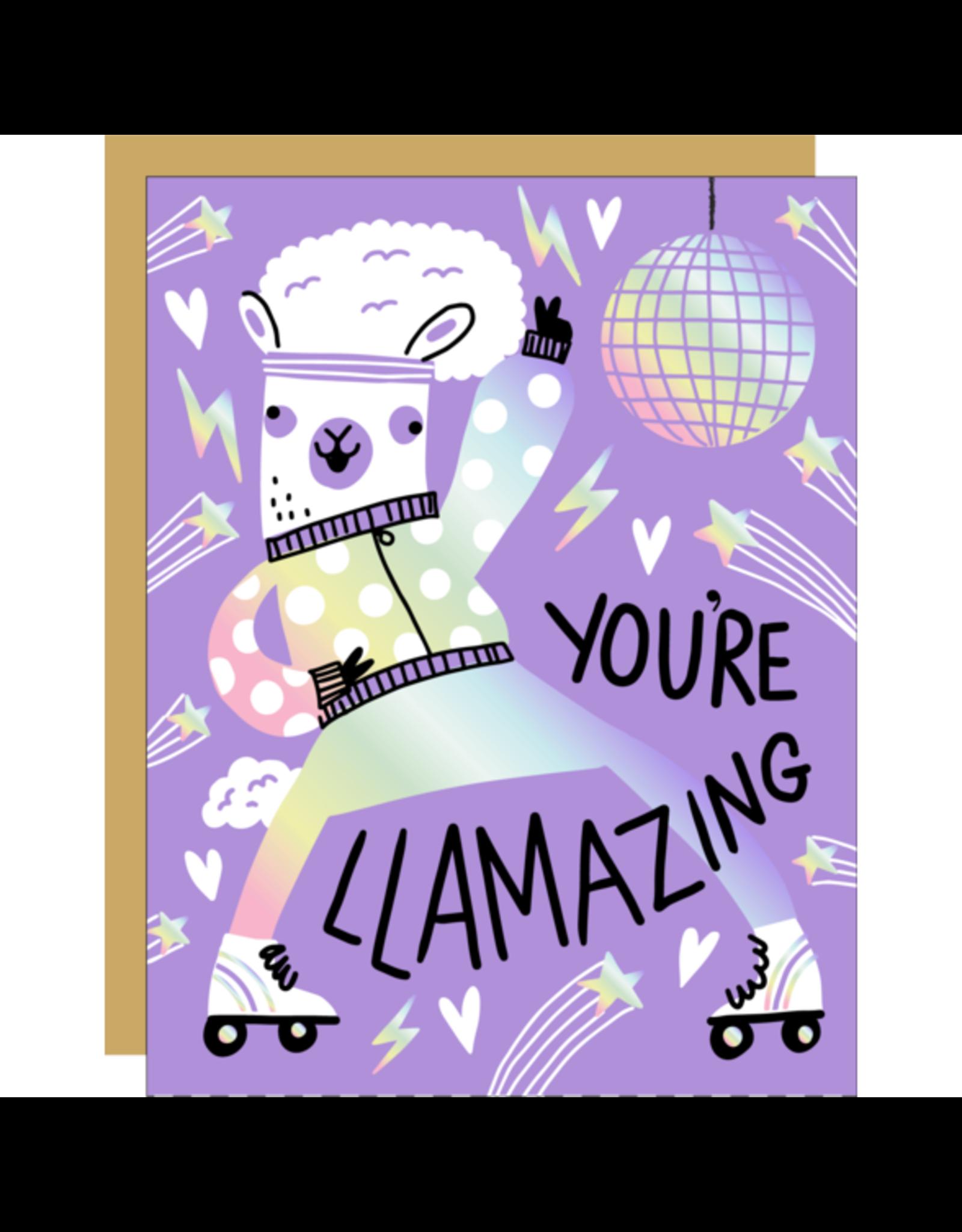 Hello!Lucky Llamazing Congrats A2 Notecard