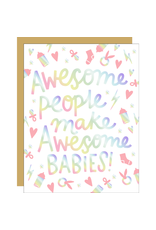 Hello!Lucky Awesome Babies A2 Notecard