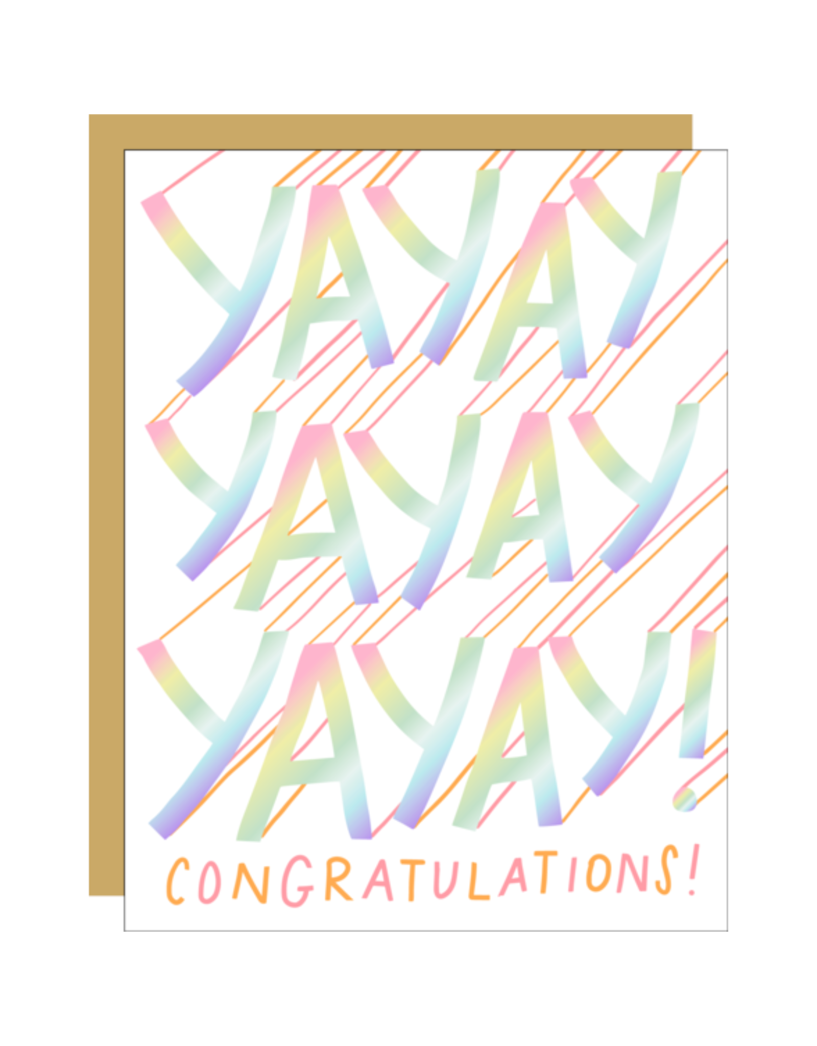 Hello!Lucky Yayayayay Congrats A2 Notecard
