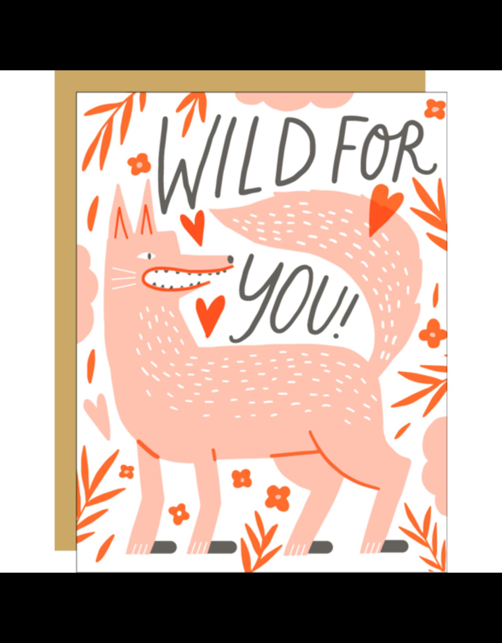 Hello!Lucky Wolfie Love A2 Notecard