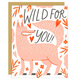 Hello!Lucky Wolfie Love A2 Notecard