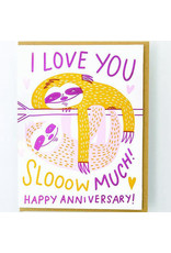 Hello!Lucky Slow Love Anniversary A2 Notecard