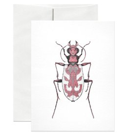 Open Sea Design Co. Blowout Tiger Beetle A2 Everyday Notecard