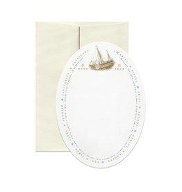 Open Sea Design Co. Sailing Oval A2 Everyday Notecard