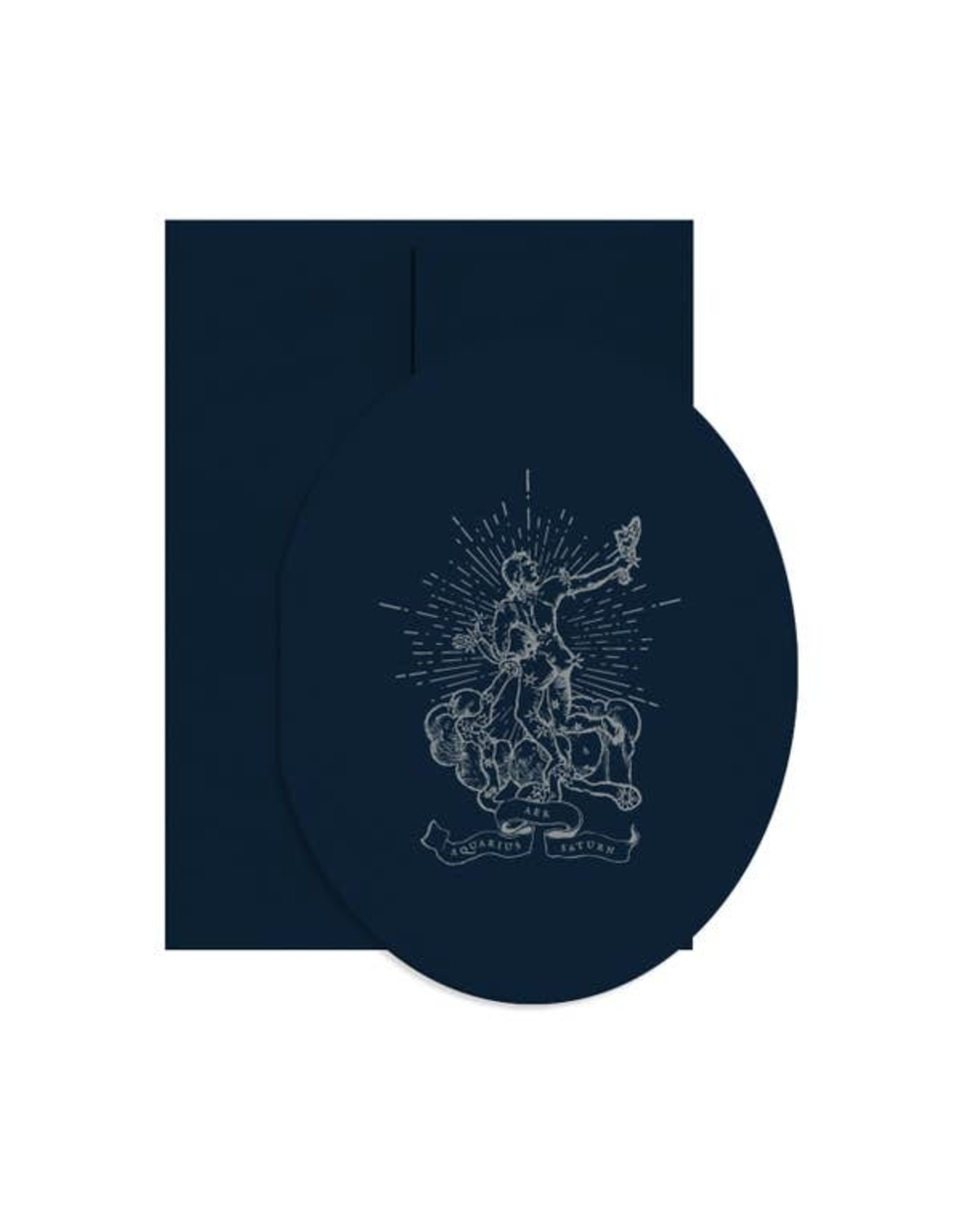 Open Sea Design Co. Aquarius Oval A2 Folded Birthday Notecard