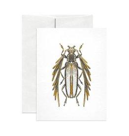 Open Sea Design Co. Feather Horned Longicorn A2 Everyday Notecard